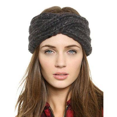 14,90EUR Strickband Ohrenwärmer Haarband grau | Fashion | Pinterest ...