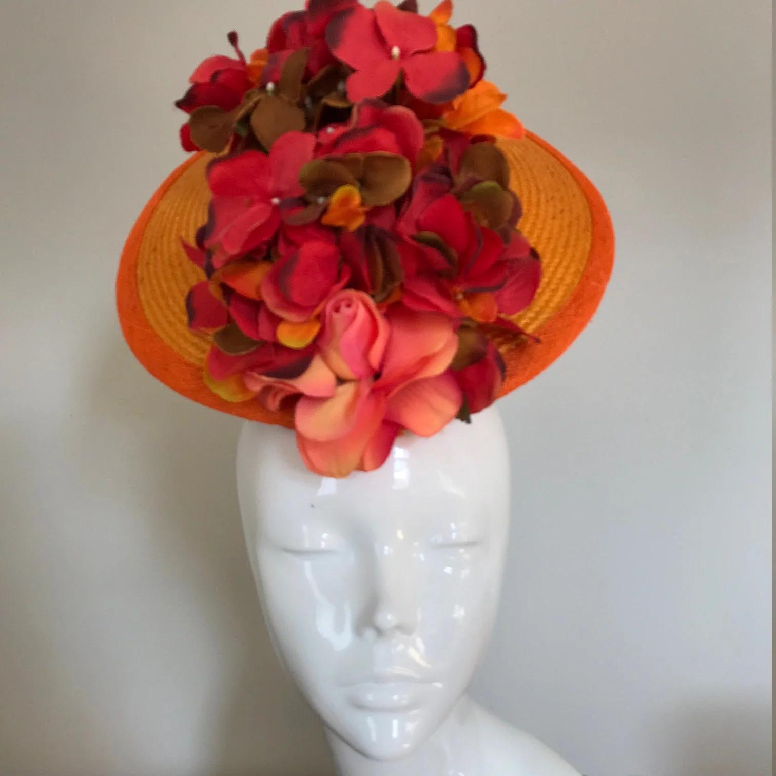 Hat Couture WeddingRacesMother of the Bride Designer Hat Strawberries /& Cream
