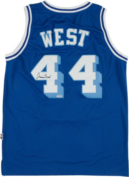 e95c2f40 Jerry West Signed Los Angeles Lakers Jersey | Jerseys | Nba players ...