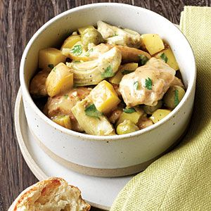 Chicken Stew with Olives and Lemon. Looks yummy