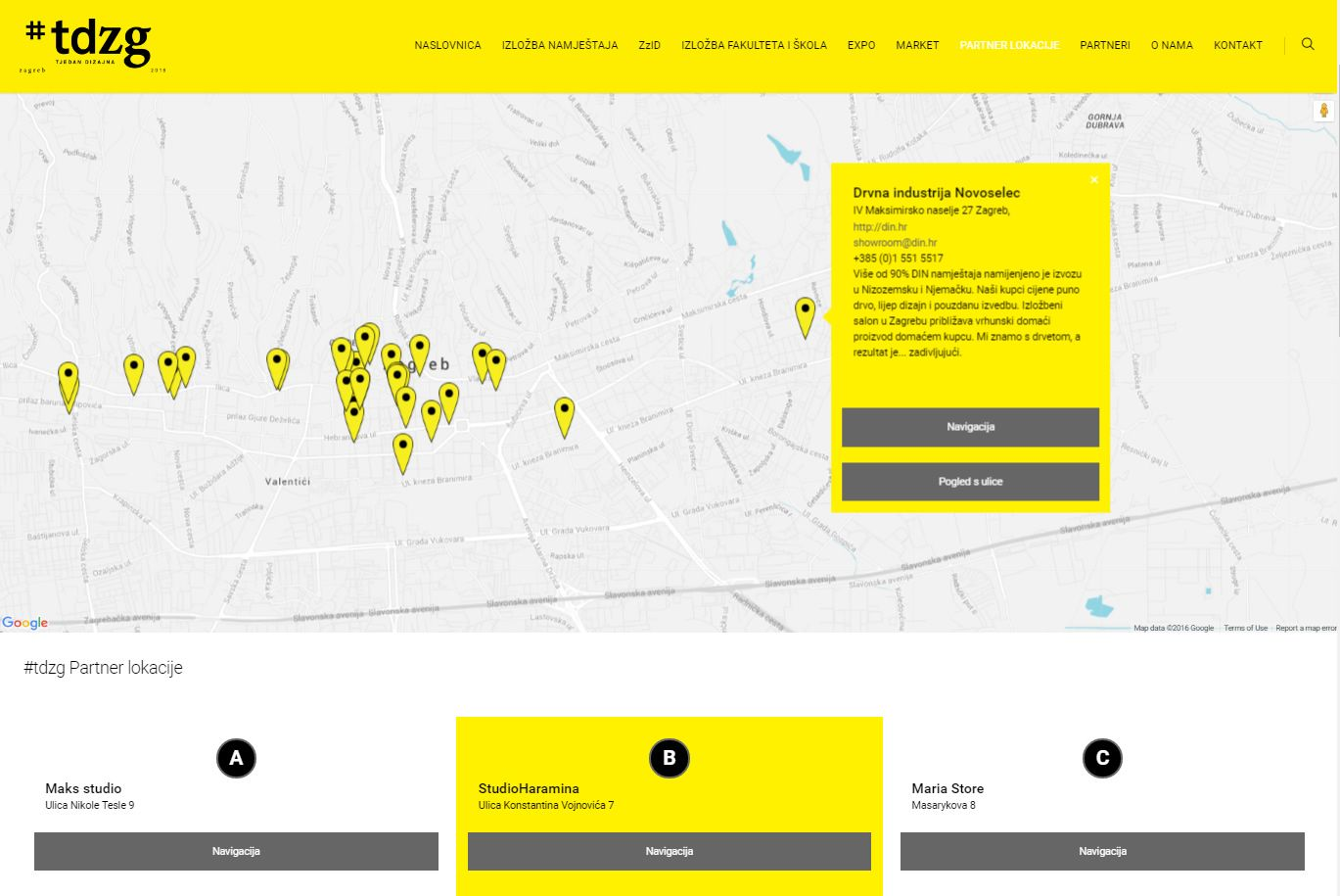 Find Design Week Zagreb Tdzg Partner Locations Http Www Tjedandizajna Com 2016 Partner Lokacije Superstorefinder Googlemaps Map Store Map Google Maps