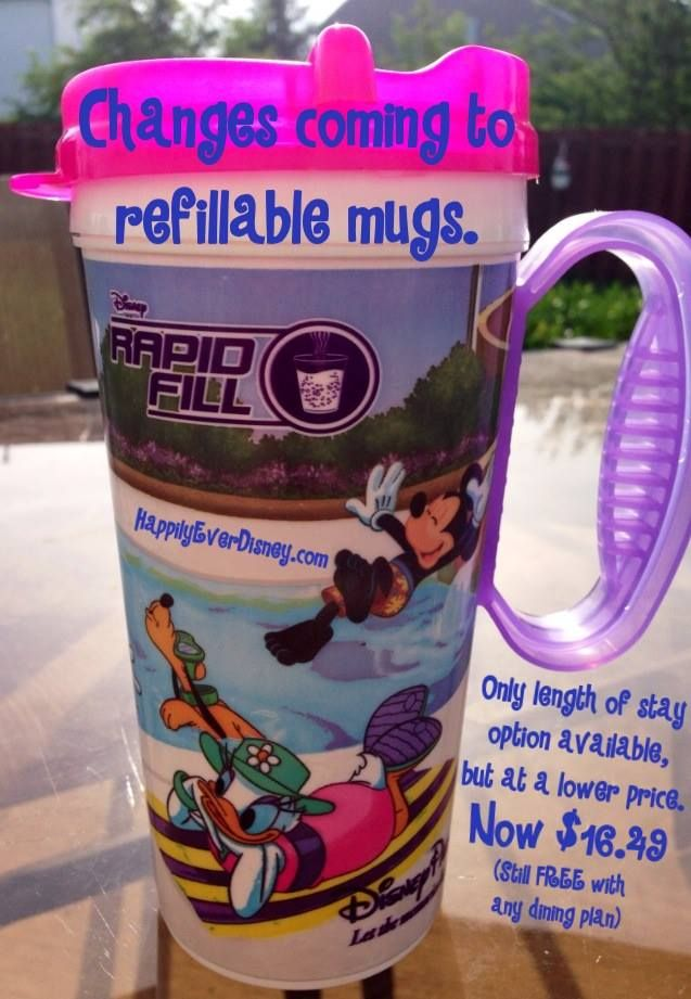 Changes To The Rapid Refill Refillable Mugs In Effect Less Options And Lower Price Disney Trips