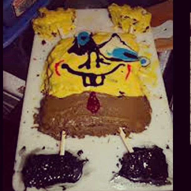 Spongebob cake fail spongebob cake cakefail fail bad awesome