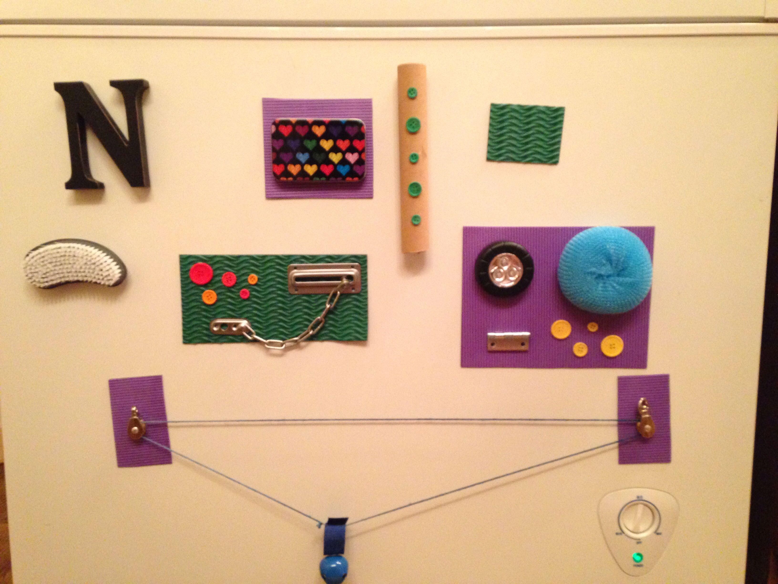Diy Magnetic Sensory Board For Toddler