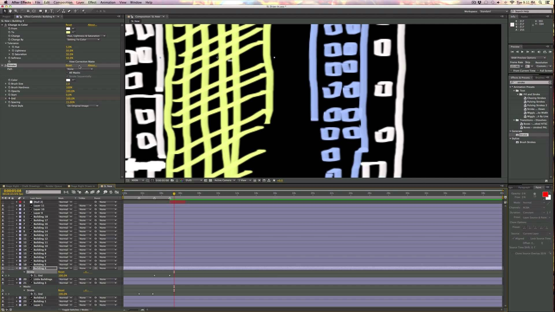 A Quick Tutorial About How To Generate An Effect In Adobe Ae That Makes It  Look As Though Lines Are Being Drawin