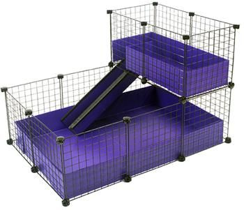 Small 2x3 grids narrow loft deluxe cages c c cages for Guinea pig cage for 3