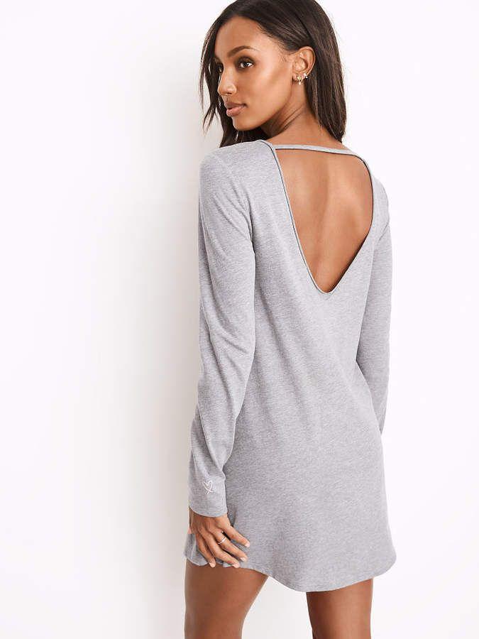 Victorias Secret V-back Sleepshirt  Soft oversized shoulder  057c719cb