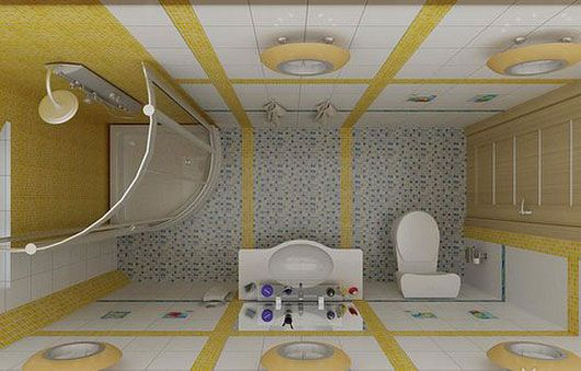 Birds Eye Of Ultra Small Space Small Bathroom Floor Plans