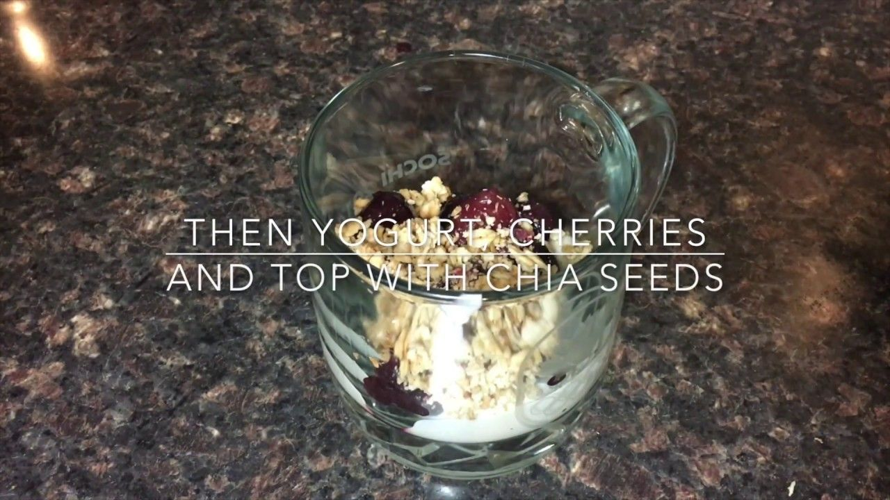 Day 157  - Cherry Vanilla Yogurt Parfait