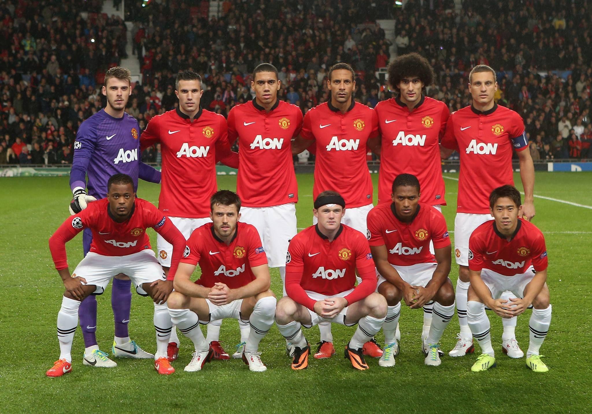 Manutd Manchester United Line Up Manchester United Team Manchester United Players
