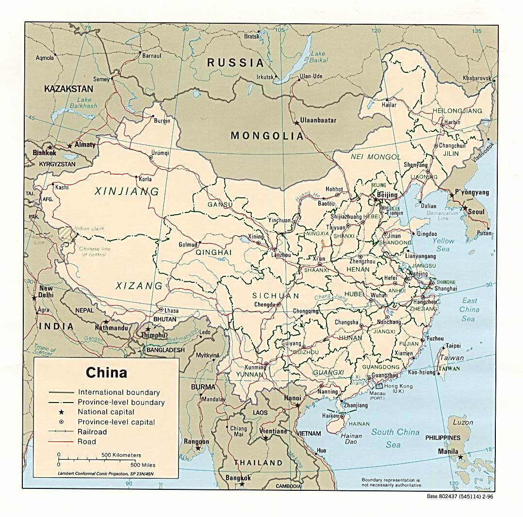 General Map Of China