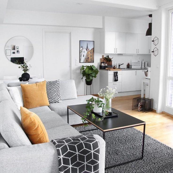 41 Wybitne Pomysly Na Uklad Salonu W Malym Mieszkaniu Small Apartment Living Apartment Interior Living Room Decor Apartment