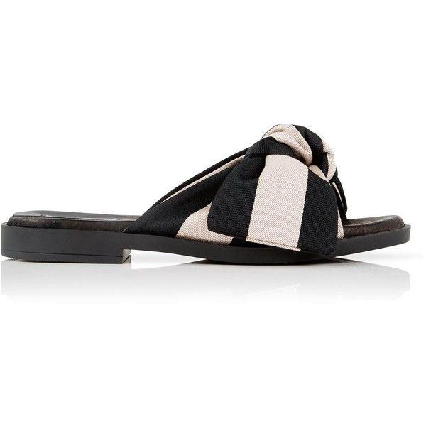 498b1620093f Miista Valerie Bow Slides (£130) ❤ liked on Polyvore featuring shoes