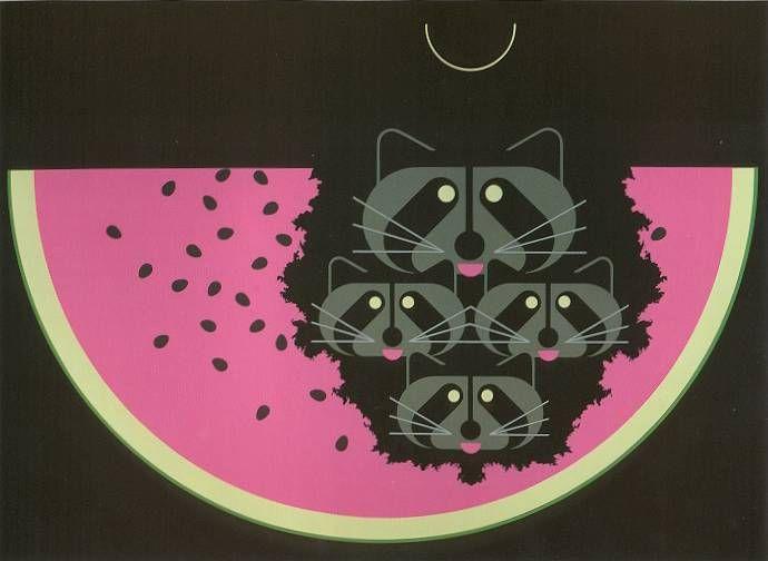 Charley Harper watermelon moon   Charlie Harper works   Pinterest ...