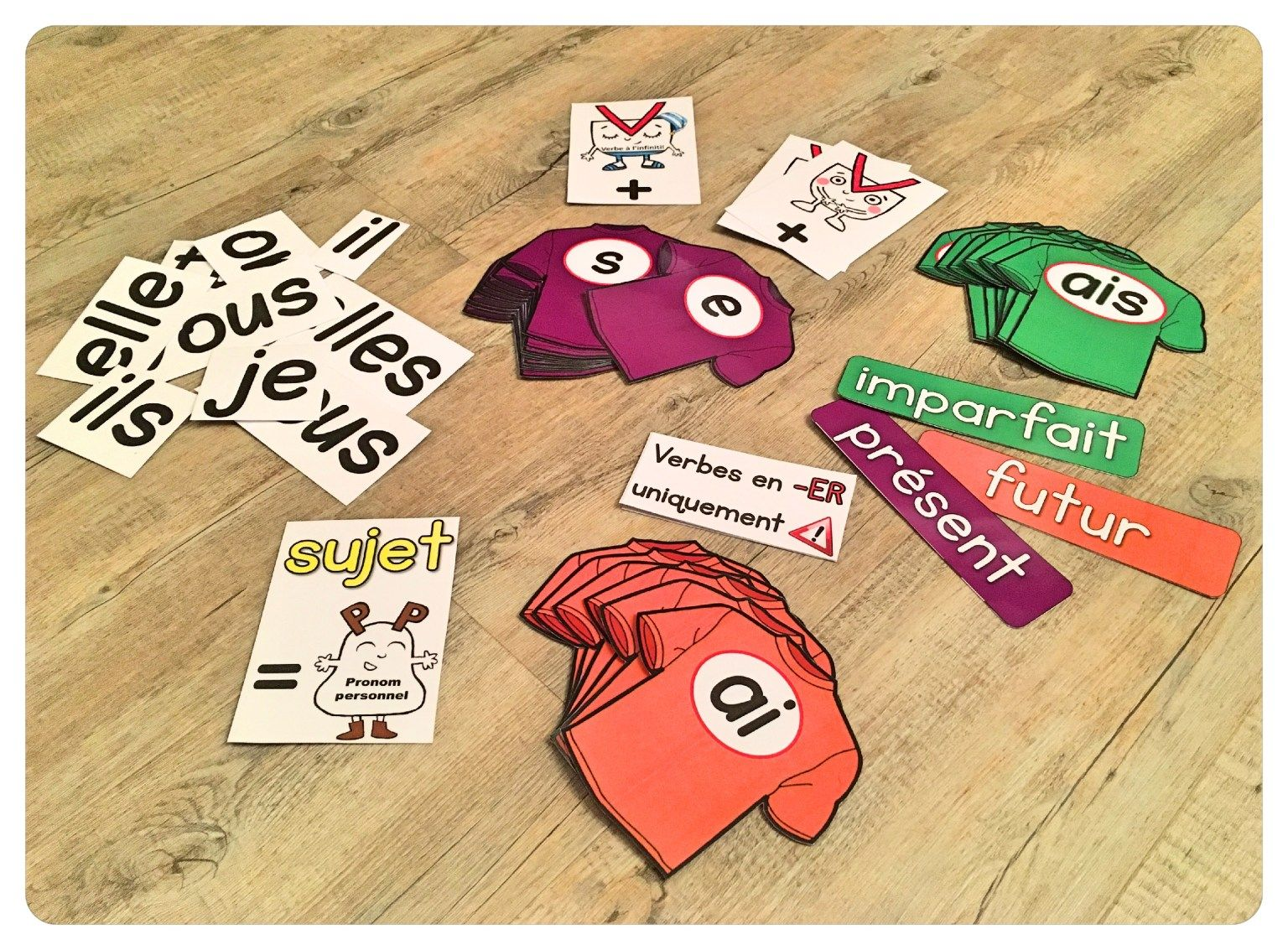 Garde Robe Du Verbe Affichage Evolutif Conjugaison Verbe Jeux Ecole Jeu Conjugaison