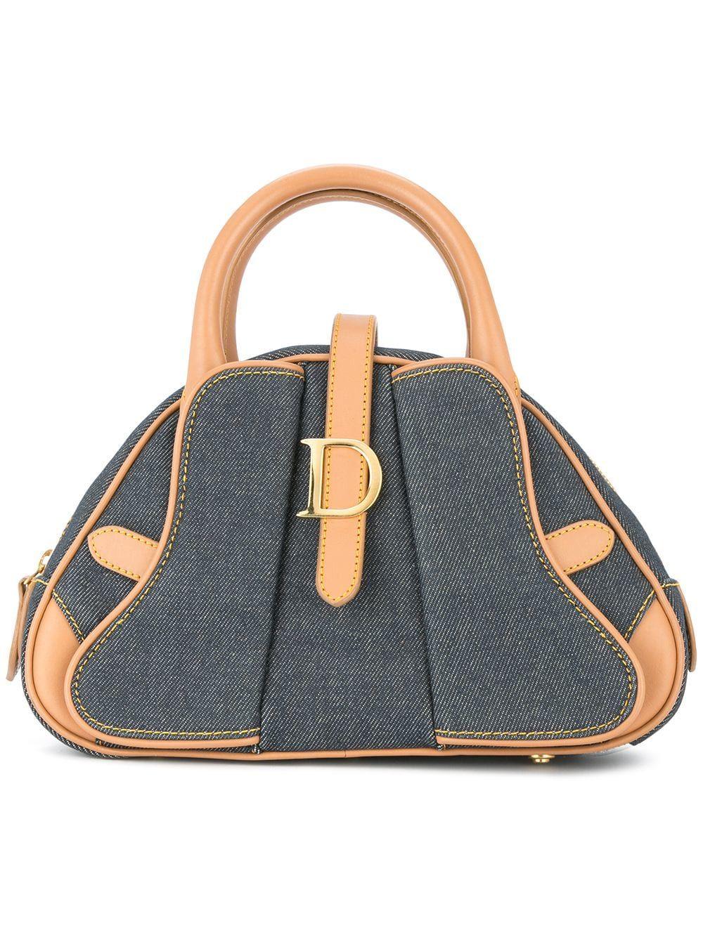 ae4aabb8f3b7 Christian Dior Vintage denim triangle bag | Cool handle bags ...