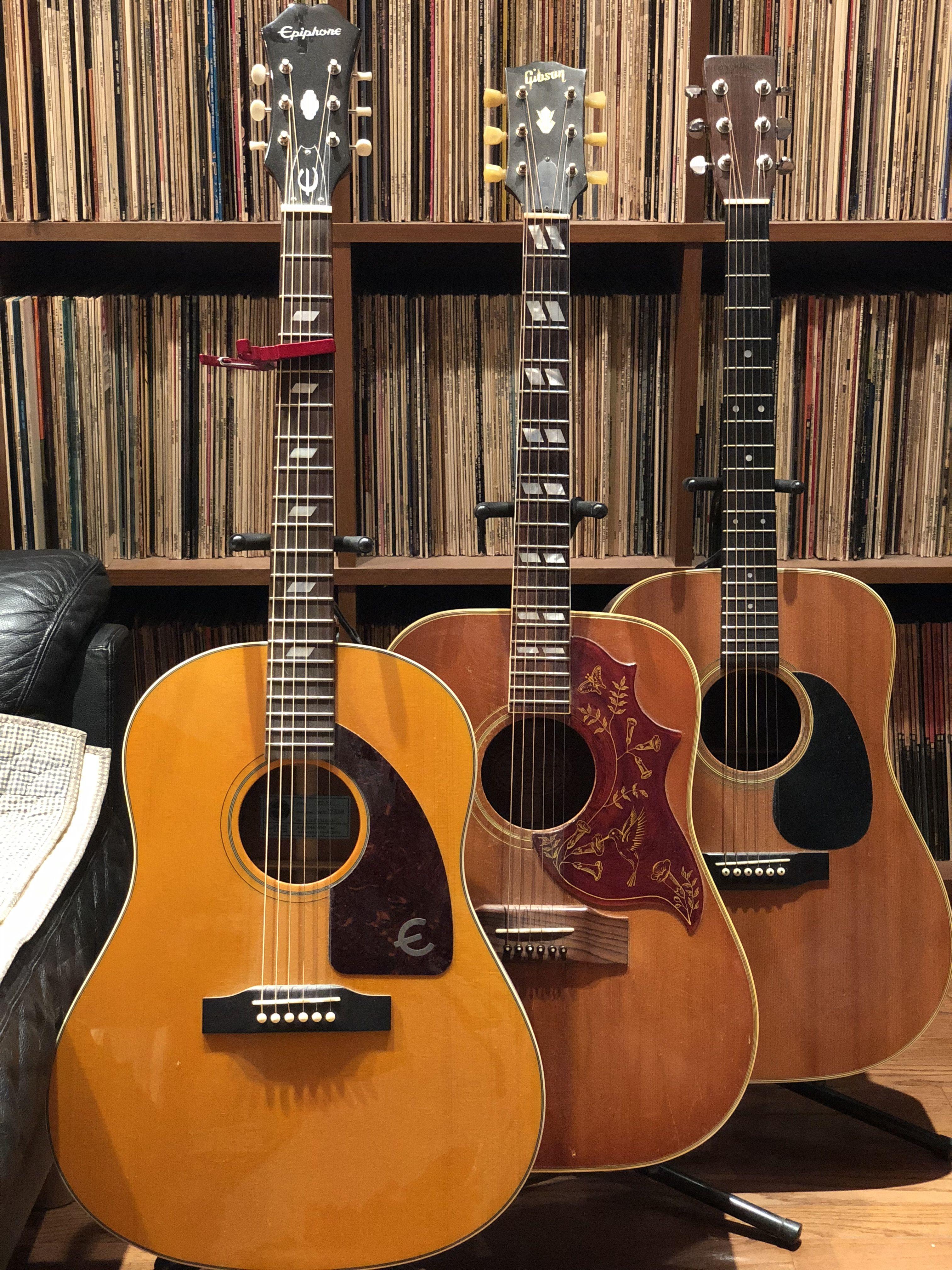 Epiphone Ft 79 Inspired By Texan Gibson Hummingbird 1964 Martin D28 1975 Epiphone Guitar Acoustic Guitar