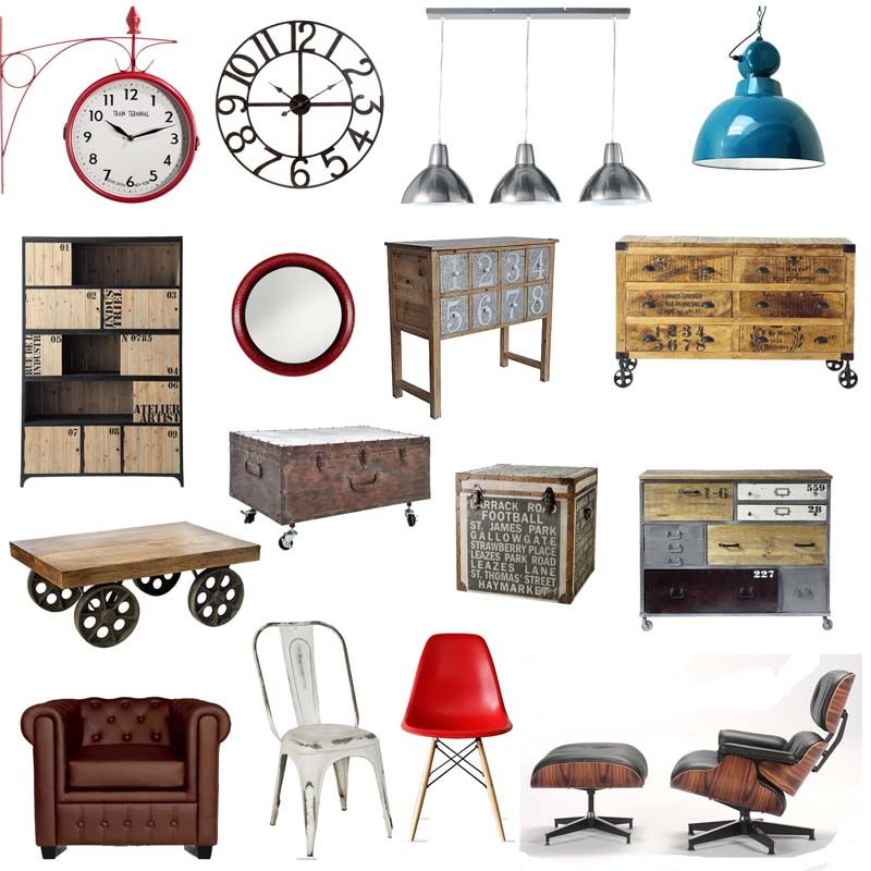Muebles industriales vintage aparta pinterest for Muebles industriales vintage