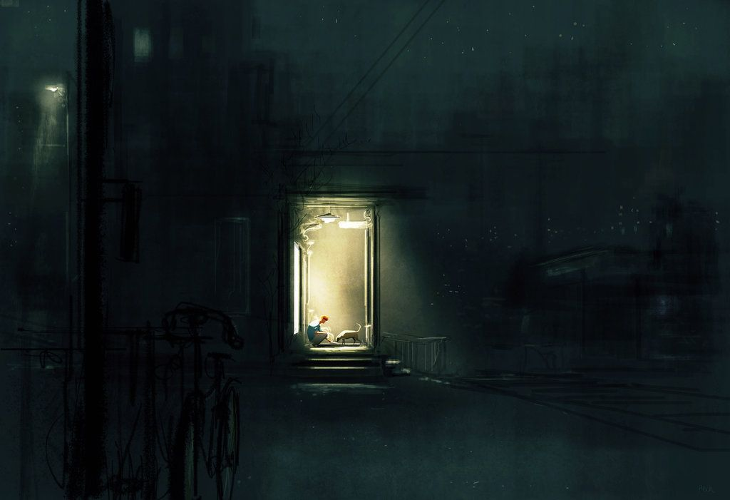 Supper on the porch. by PascalCampion.deviantart.com on @deviantART