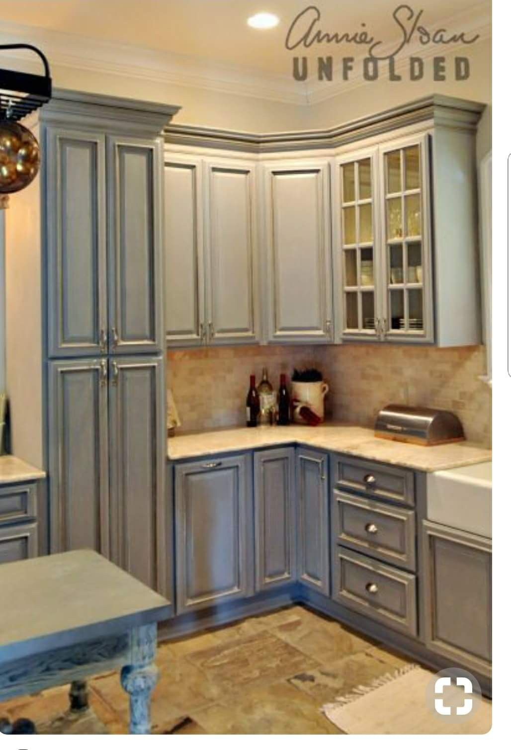 Paris Gray Sealed With Clear Wax And Shaded To Emphasize Details Painted By Lisa R Chalk Paint Kitchen Cabinets Painting Kitchen Cabinets Chalk Paint Kitchen