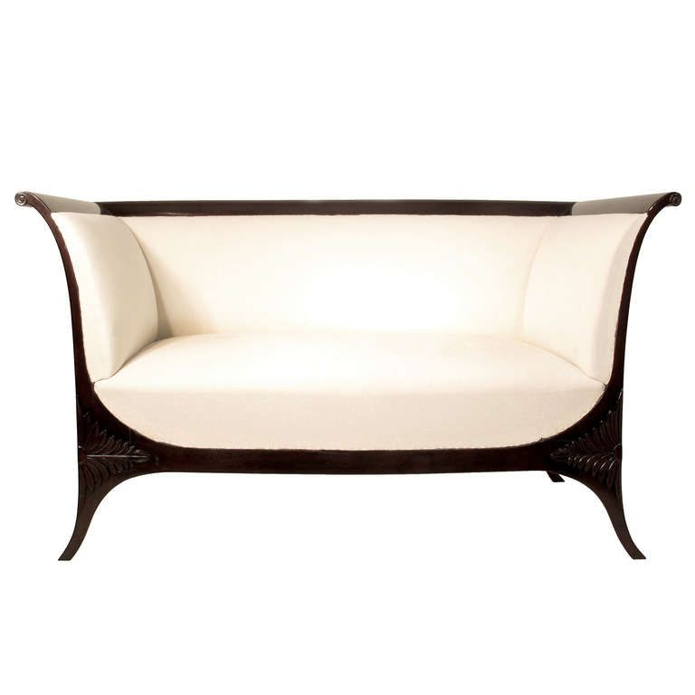 Unique Antique Furniture: Elegant Early Biedermeier Sofa