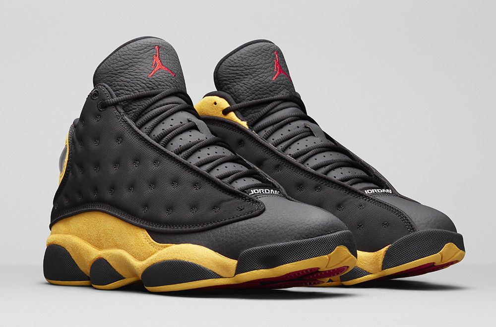cf09cafb5d95 fashion 2018 AIR JORDAN 13 RETRO MELO CLASS OF 2002 414571-035 BLACK UNIVERSITY  RED-GOLD