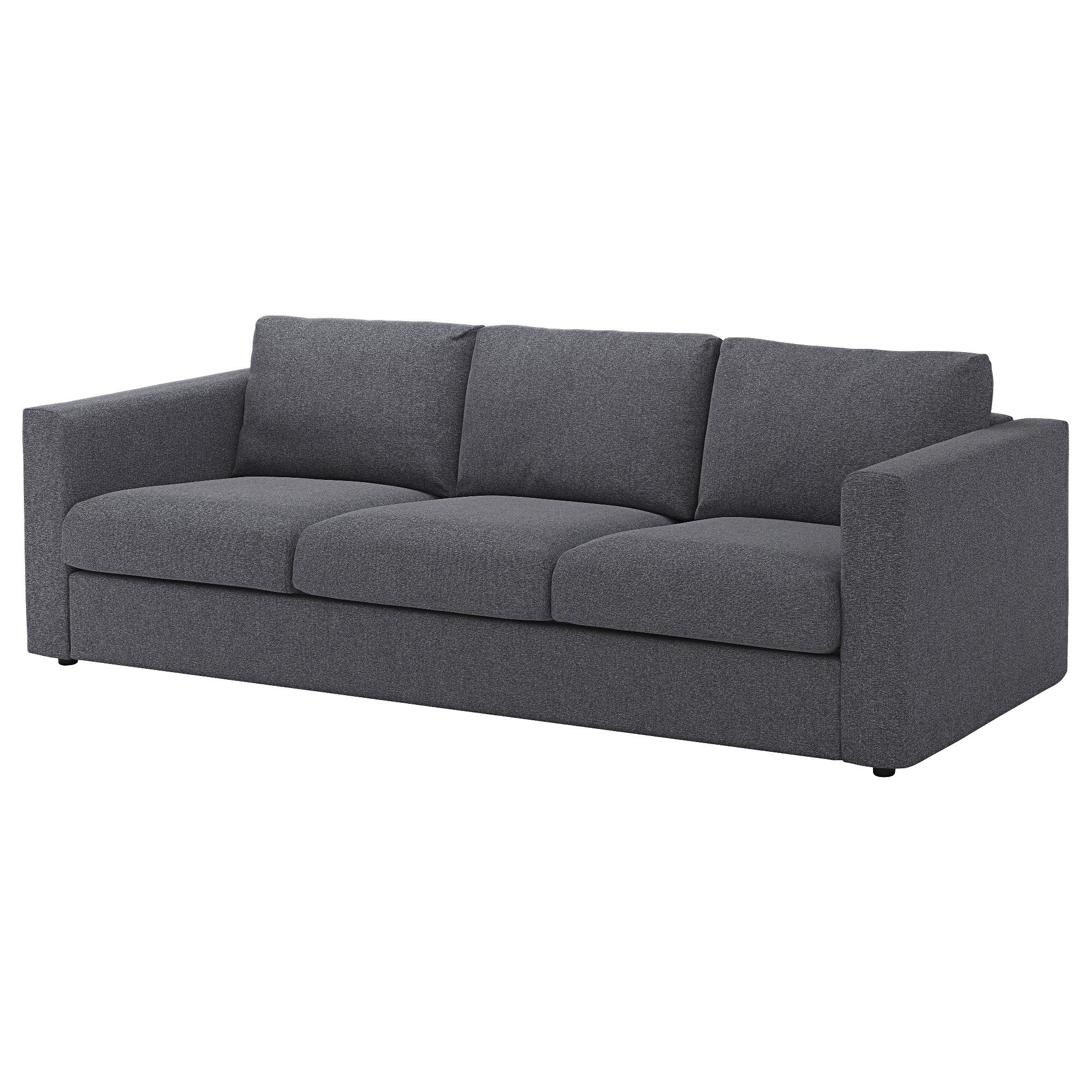 Ikea Vimle 3 Seat Sofa Gunnared Medium Grey This Soft And Cosy Sofa Will Have A Long Life As The Seat Cushions Are Filled With Ikea Sofa Ikea Vimle Fabric Sofa