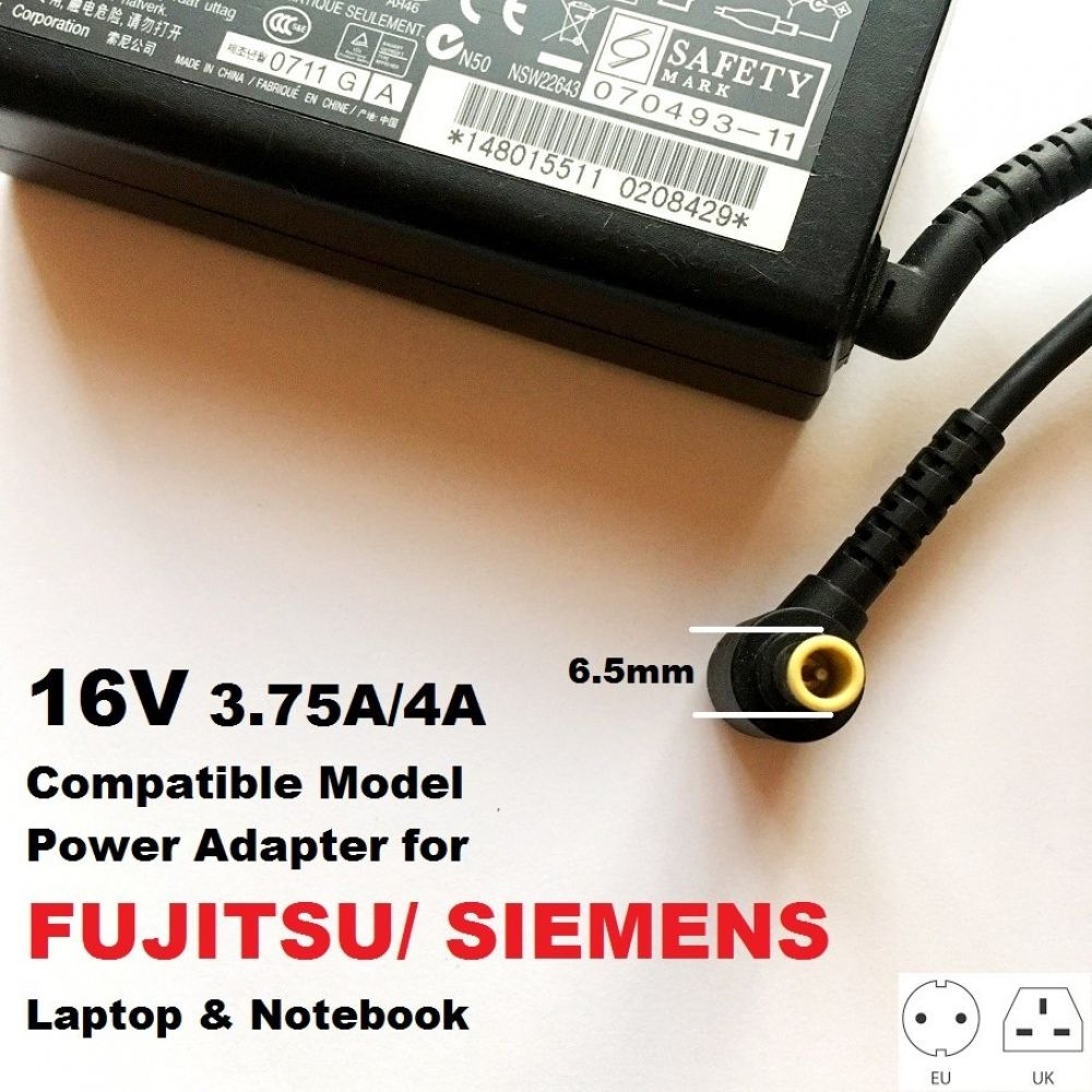 16v 3 75a 4a 6 5 4 4 Charger For Siemens Lifebook B6110 B6110d B6210 Biblo Chargers Hunt In 2020 Book Of Life Siemens Dc Connector