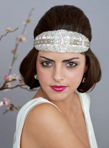Diamond Bandeau  Leah C Couture Millinery