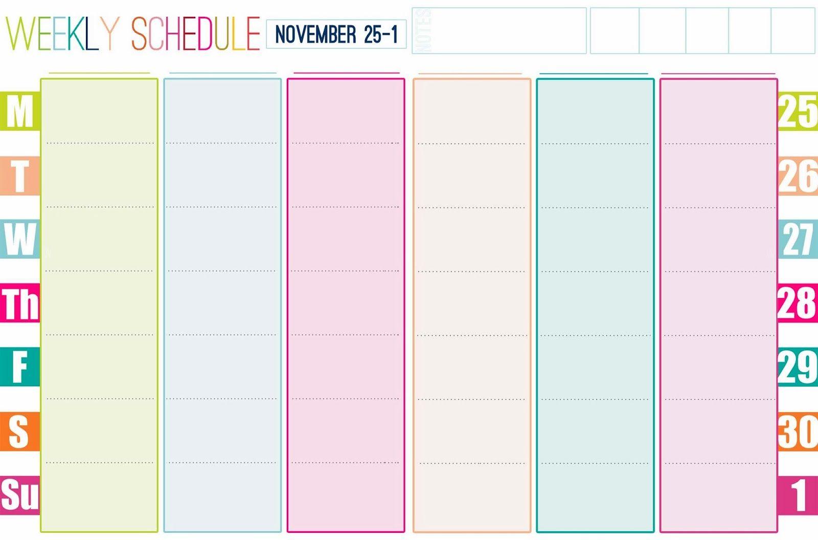 Gallery For Gt Free Printable Weekly Calendar Cute