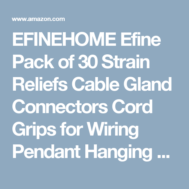 EFINEHOME Efine Pack of 30 Strain Reliefs Cable Gland Connectors ...