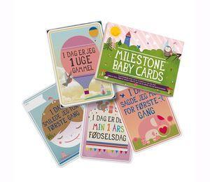 Milestone Baby Cards - Dansk