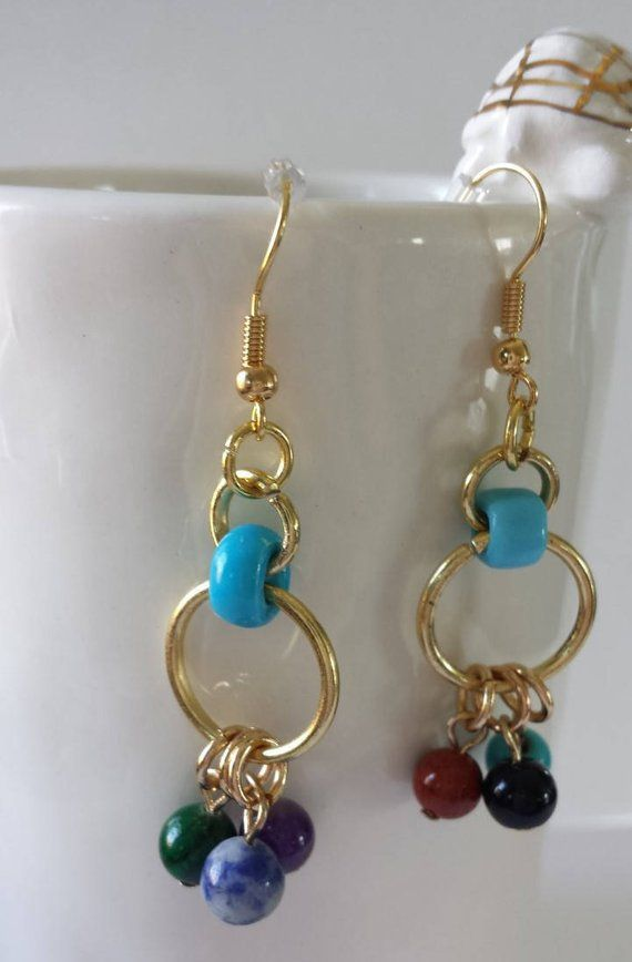 Photo of Multi-Colored Dangle Beaded Earrings