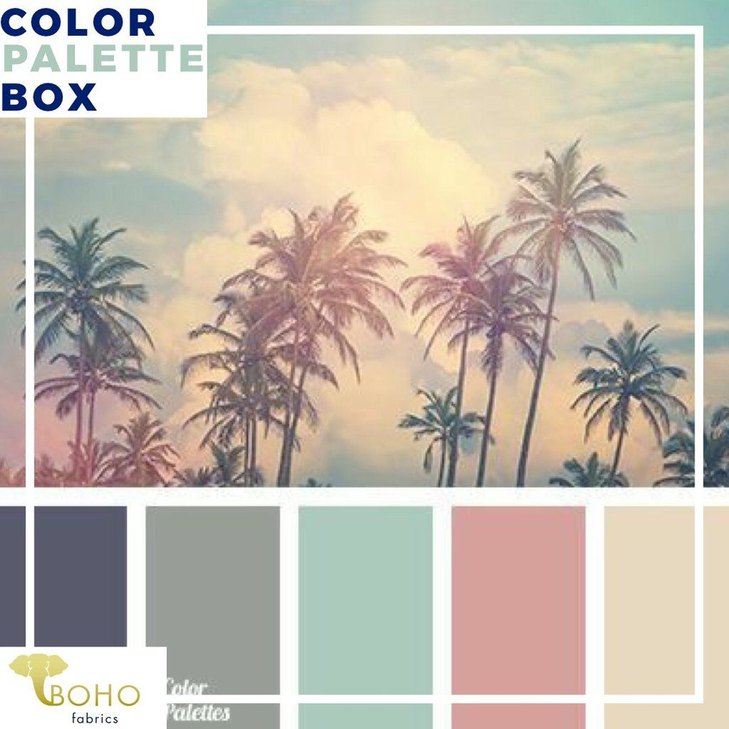 """""""Dusty Palms"""", Mystery Color Palette Box images"""