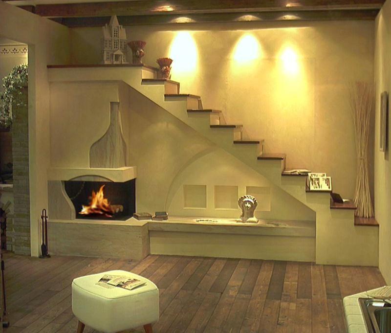Caminetti moderni in marmo acciaio cartongesso per essere for Salotto cartongesso