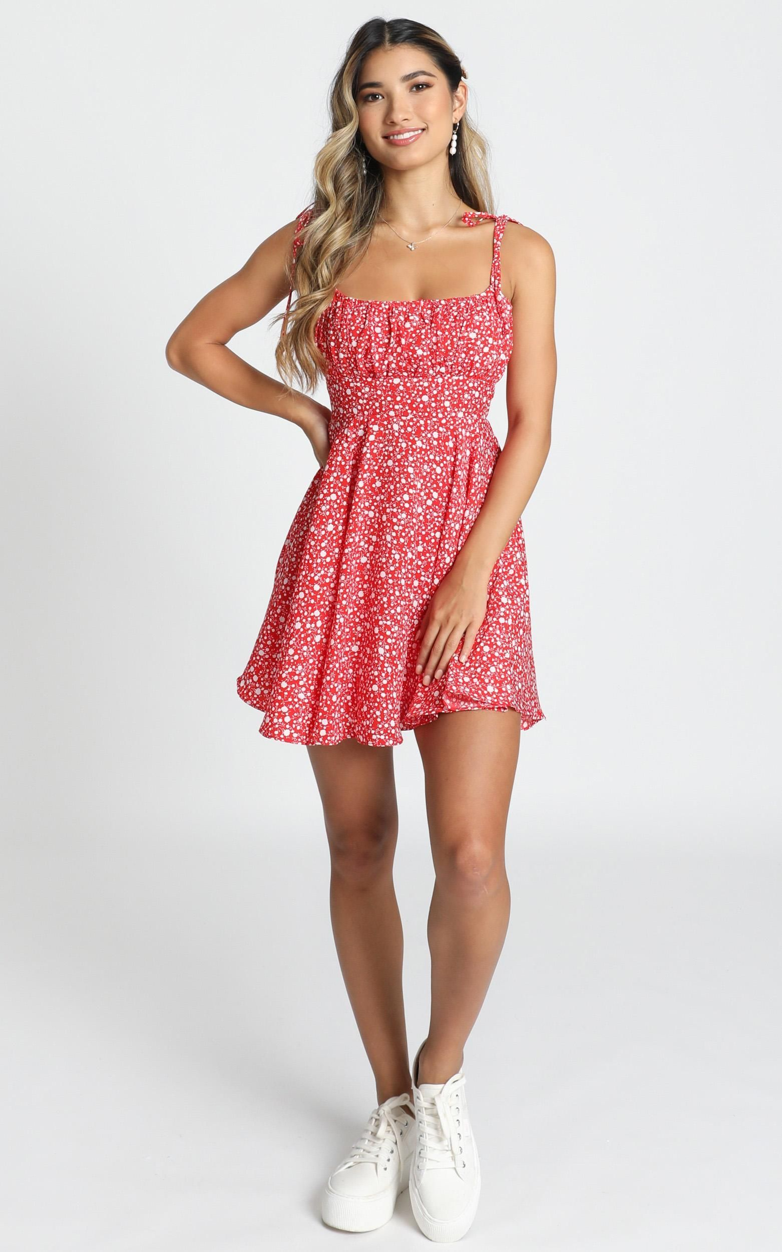 Summer Jam Dress In Red Floral Print Showpo Dresses Summer Teens Red Summer Dresses Trendy Summer Outfits [ 2500 x 1562 Pixel ]
