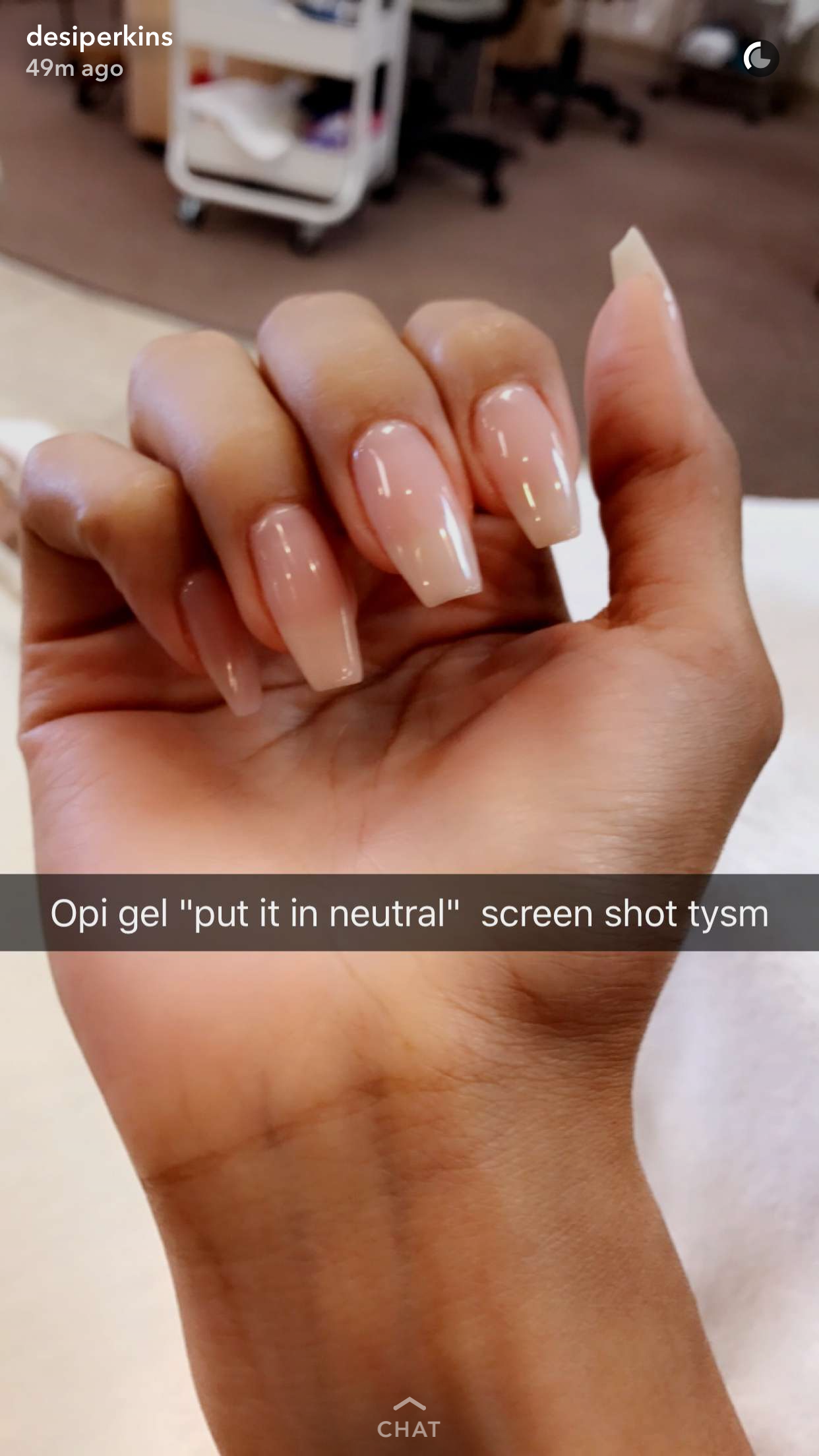 Natural Coffin Nails Desiperkins Acrylicnailsglitter In 2020 Nails Natural Nails Broken Nails