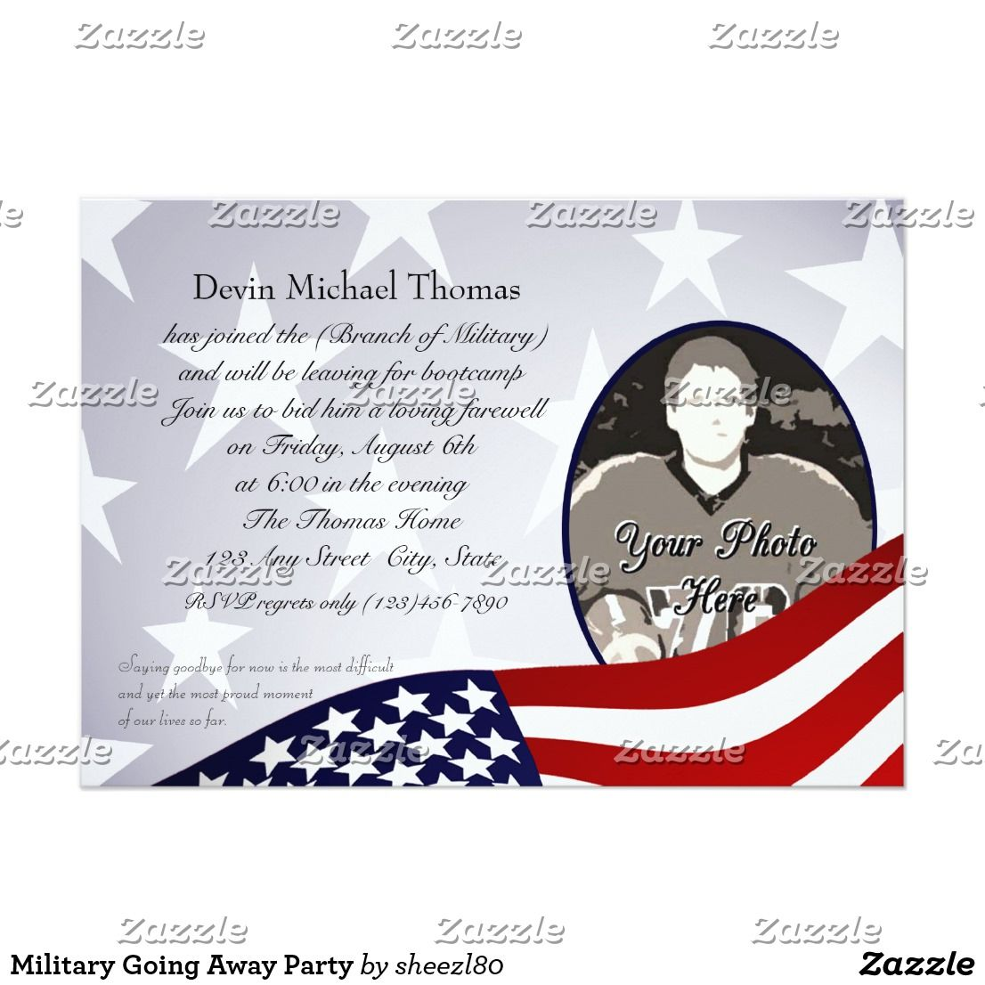 Military Going Away Party Invitation Party Invitations Party