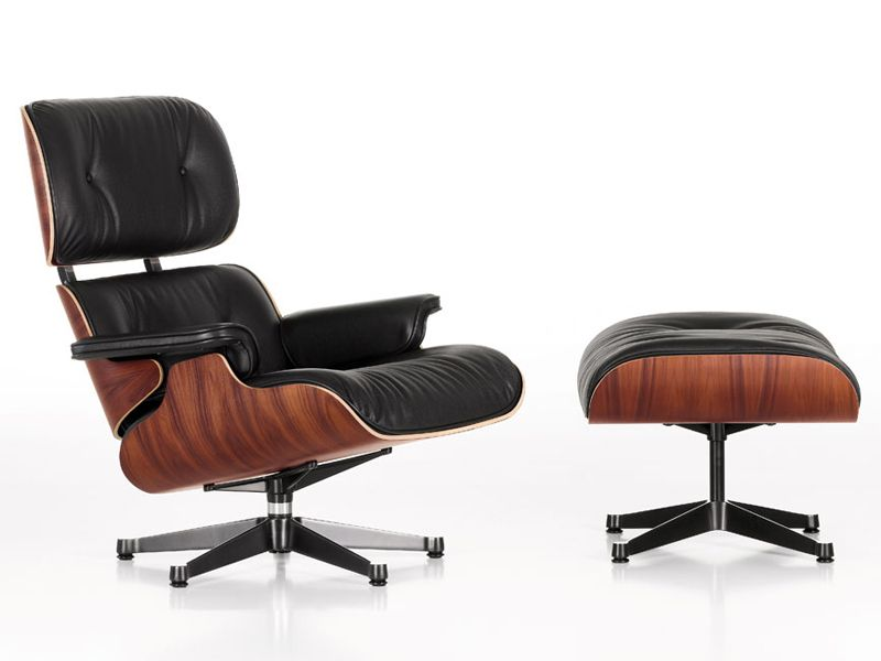 Poltrona in pelle lounge chair by vitra design charles eames in