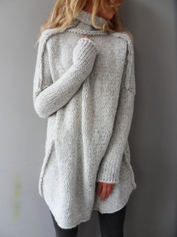 8f367d4f2698d Oversized Chunky knit Alpaca woman sweater