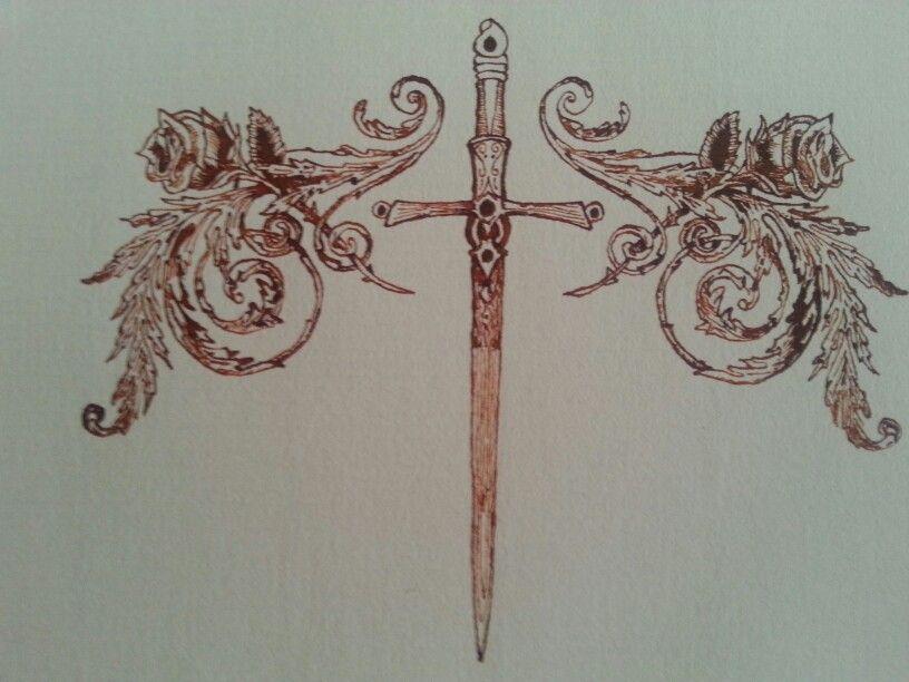 Rosas Con Espada Dibujos Rosas Espadas