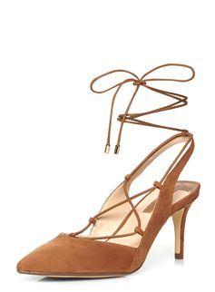 45e30a83d6 Tan 'Darcy' Ghillie Kitten heel | Handbags Shoes & Accessories ...