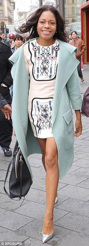 Winning look: Naomie Harris