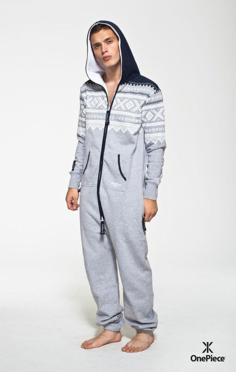 81414e687355  OnePiece Marius Onesie Grey White Navy My other brother s christmas  present this year!