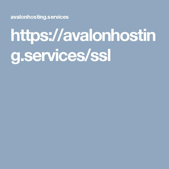 https://avalonhosting.services/ssl