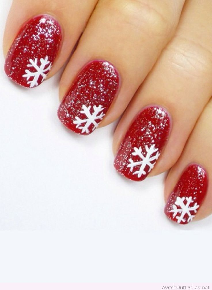 Red And White Christmas Nails With Glitter Festival Nails Festive Nail Art Christmas Nail Designs