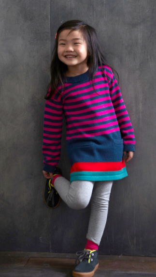 City Stripe Sweater Tunic :: All over Beijing, we were struck by stripes.