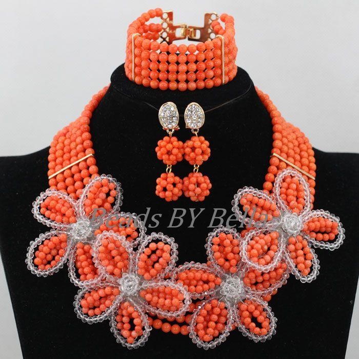 Click to Buy << 2017 NEW Nigerian Wedding Beads Necklace Indian ...