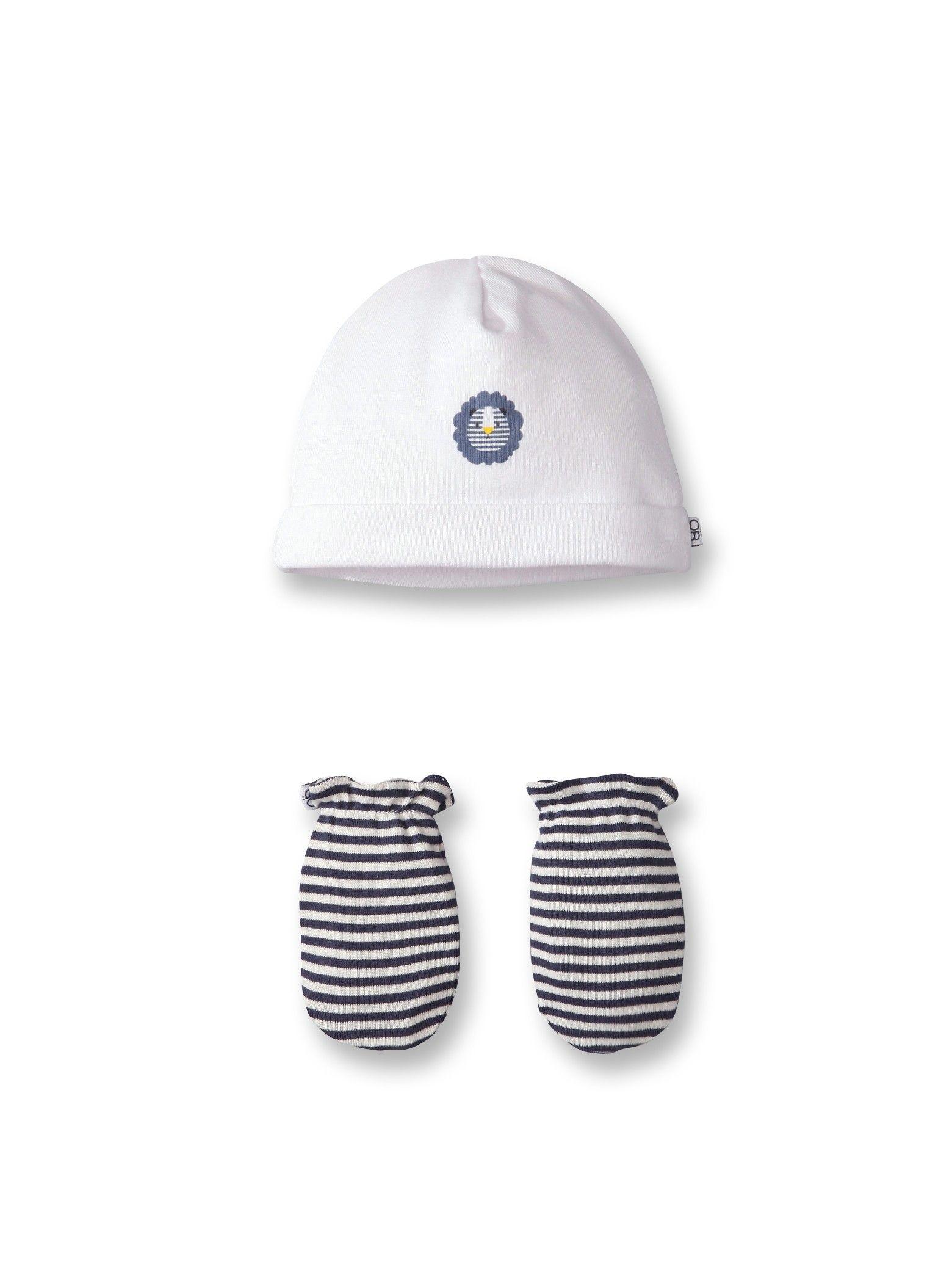 Bonnet et moufles organic cotton naissance - Blanc Lait - Nos sélections -  Obaïbi   Okaïdi 9f320cd6287