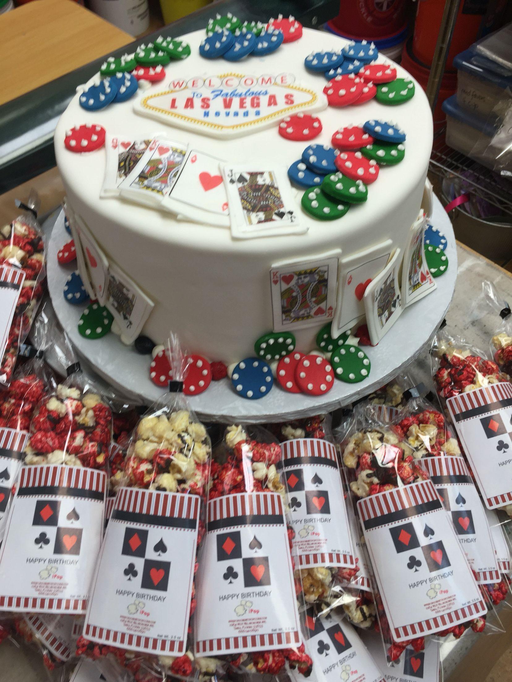 Las Vegas Poker Chip Casino Birthday Cake